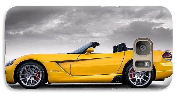 Yellow Viper Roadster Galaxy Case by Douglas Pittman