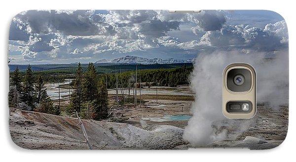 Galaxy Case featuring the photograph Yellowstone's Norris Geyser Basin by Bill Gabbert