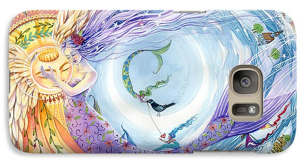 You Are The Sun I Am The Moon Galaxy Case by Sara Burrier
