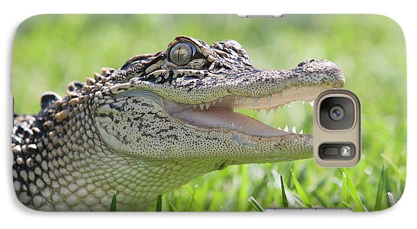 Young Alligator With Mouth Open Galaxy S7 Case by Piperanne Worcester