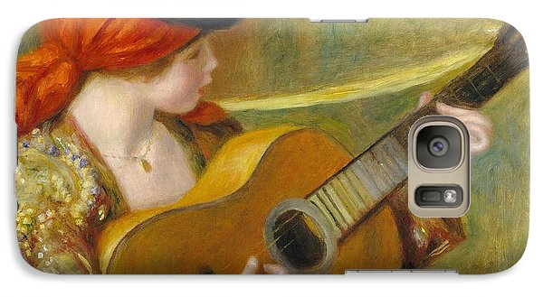 Young Spanish Woman With A Guitar Galaxy S7 Case by Pierre Auguste Renoir