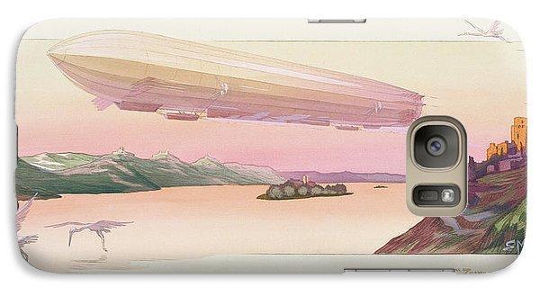 Zeppelin, Published Paris, 1914 Galaxy S7 Case by Ernest Montaut