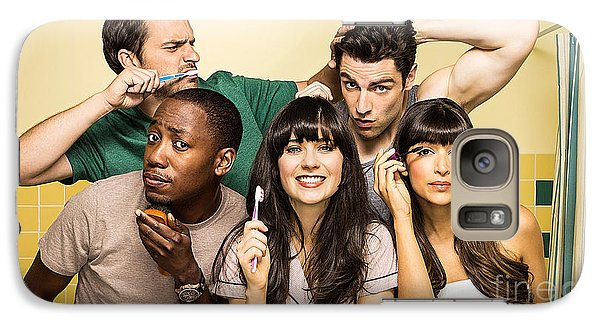 Zooey Deschanel New Girl Tv Show  Galaxy Case by Marvin Blaine