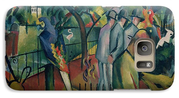 Zoological Garden I, 1912 Oil On Canvas Galaxy Case by August Macke