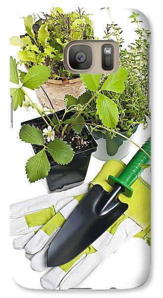 Gardening Tools And Plants Galaxy Case by Elena Elisseeva