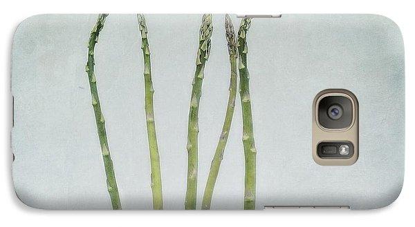 A Bunch Of Asparagus Galaxy Case by Priska Wettstein