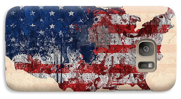 America Galaxy S7 Case by Mark Ashkenazi