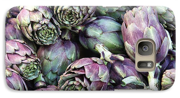 Background Of Artichokes Galaxy Case by Jane Rix