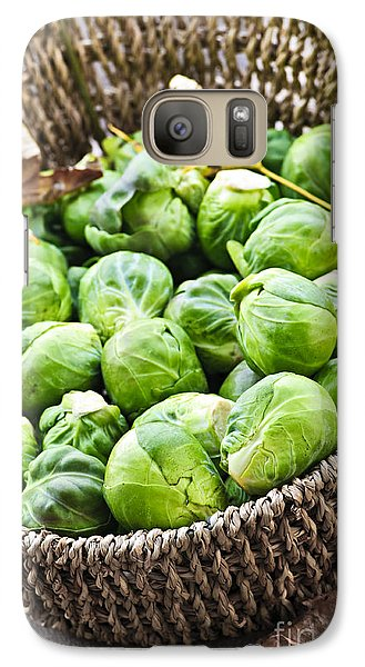 Basket Of Brussels Sprouts Galaxy Case by Elena Elisseeva