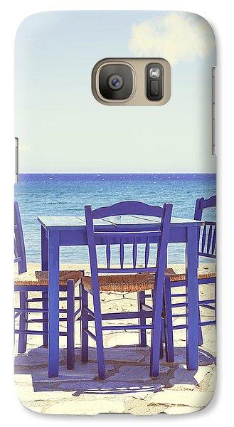 Blue Galaxy S7 Case by Joana Kruse