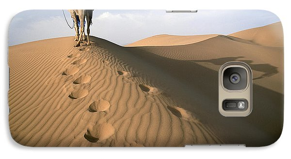 Blue Man Tribe Of Saharan Traders With Galaxy S7 Case by Axiom Photographic