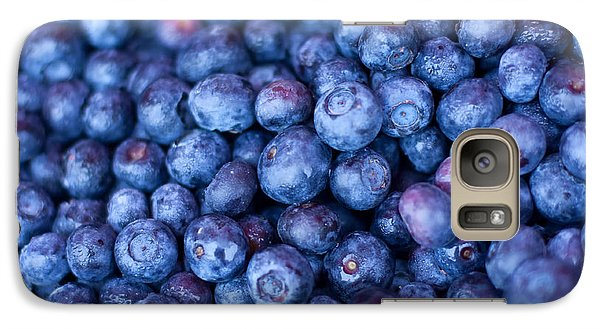 Blueberries Galaxy Case by Tanya Harrison