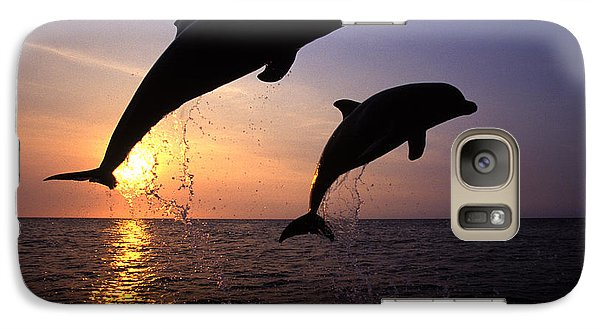 Bottlenose Dolphins Galaxy S7 Case by Francois Gohier and Photo Researchers