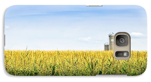 Corn Field With Silos Galaxy Case by Elena Elisseeva
