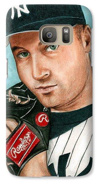 Derek Jeter  Galaxy S7 Case by Bruce Lennon