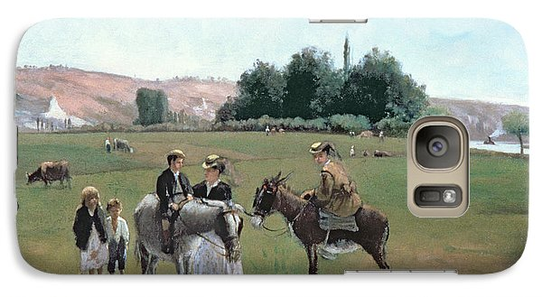 Donkey Ride Galaxy S7 Case by Camille Pissarro