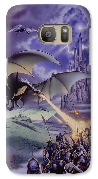 Dragon Combat Galaxy S7 Case by The Dragon Chronicles - Steve Re