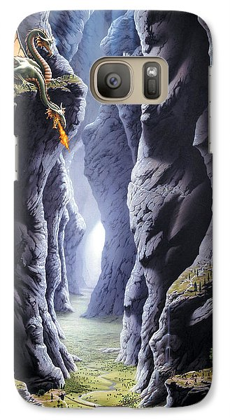 Dragons Pass Galaxy S7 Case by The Dragon Chronicles - Steve Re