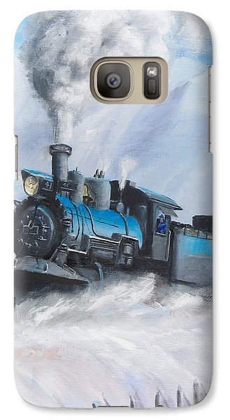 First Train Through Galaxy S7 Case by Christopher Jenkins