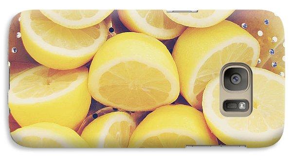 Fresh Lemons Galaxy Case by Amy Tyler