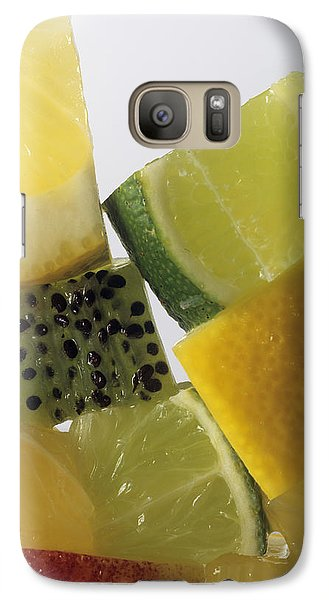 Fruit Squares Galaxy S7 Case by Veronique Leplat