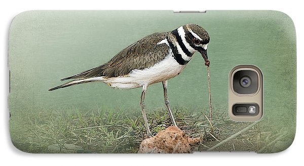 Killdeer And Worm Galaxy Case by Betty LaRue