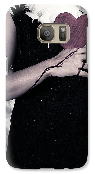 Lady With Blood And Heart Galaxy Case by Joana Kruse