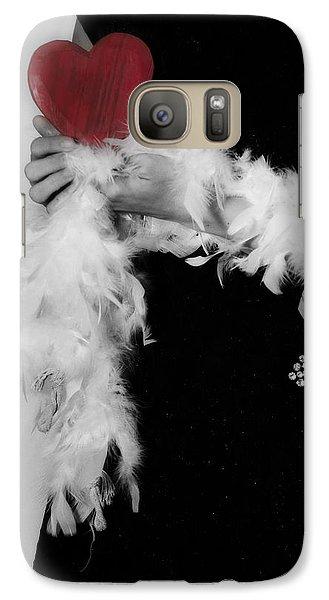 Lady With Heart Galaxy Case by Joana Kruse