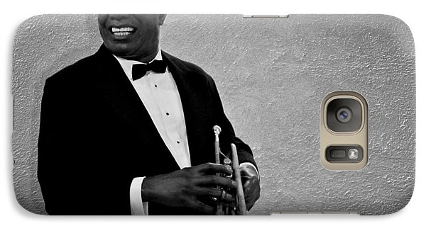 Louis Armstrong Bw Galaxy Case by David Dehner