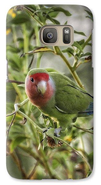 Lovely Little Lovebird Galaxy S7 Case by Saija  Lehtonen
