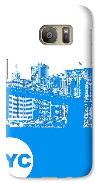 New York Poster Galaxy Case by Naxart Studio