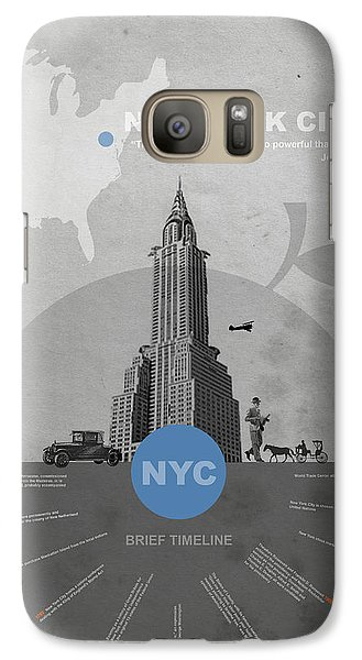 Nyc Poster Galaxy Case by Naxart Studio