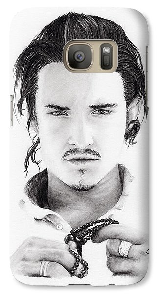 Orlando Bloom Galaxy Case by Rosalinda Markle