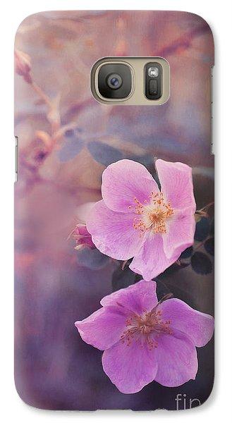 Prickly Rose Galaxy Case by Priska Wettstein