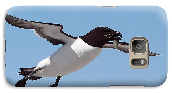 Razorbill In Flight Galaxy Case by Bruce J Robinson