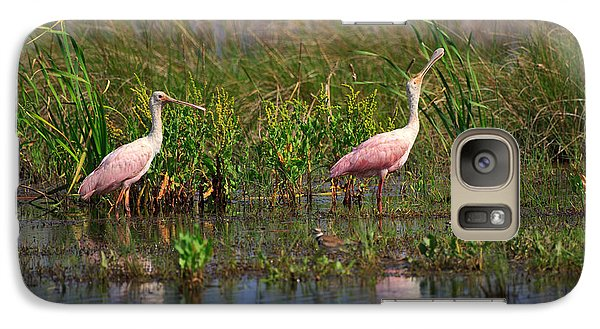 Roseate Spoonbills Galaxy S7 Case by Louise Heusinkveld