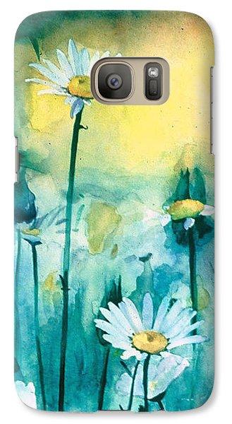 Splash Of Daisies Galaxy Case by Cyndi Brewer