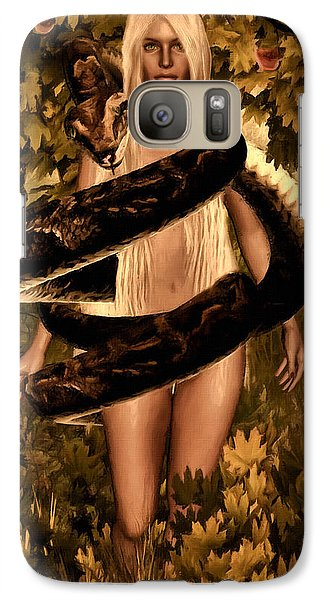 Temptation And Fall Galaxy Case by Lourry Legarde