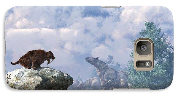 The Paraceratherium Migration Galaxy S7 Case by Daniel Eskridge