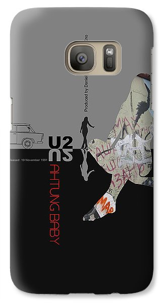 U2 Poster Galaxy S7 Case by Naxart Studio
