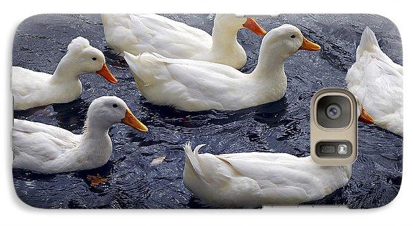 White Ducks Galaxy Case by Elena Elisseeva