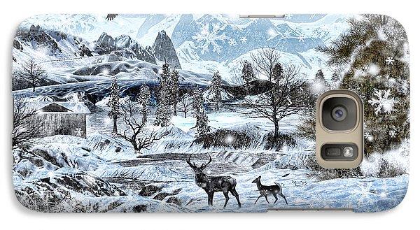 Winter Wonderland Galaxy Case by Lourry Legarde