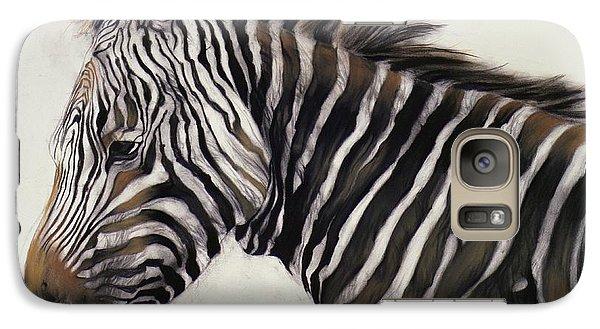 Zebra  Galaxy Case by Odile Kidd
