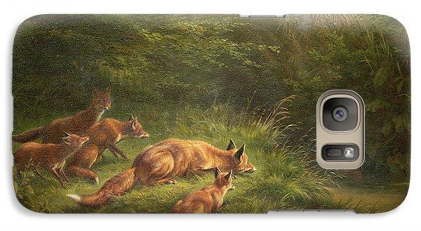 Foxes Waiting For The Prey   Galaxy S7 Case by Carl Friedrich Deiker