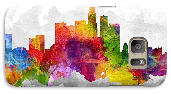 Los Angeles California Cityscape 13 Galaxy Case by Aged Pixel