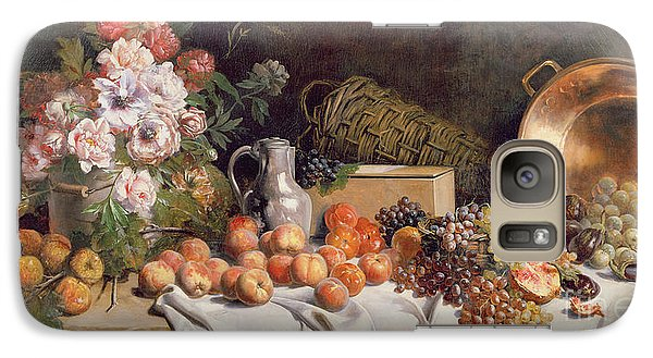 Still Life With Flowers And Fruit On A Table Galaxy S7 Case by Alfred Petit