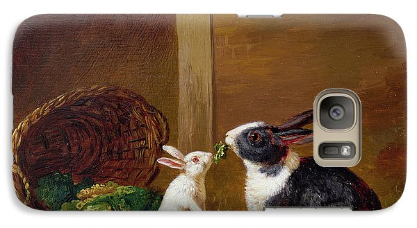 Two Rabbits Galaxy Case by H Baert