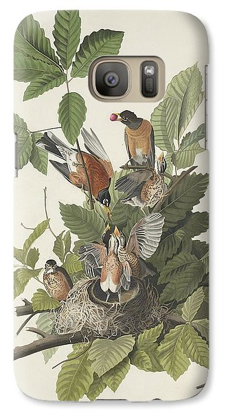 American Robin Galaxy Case by John James Audubon