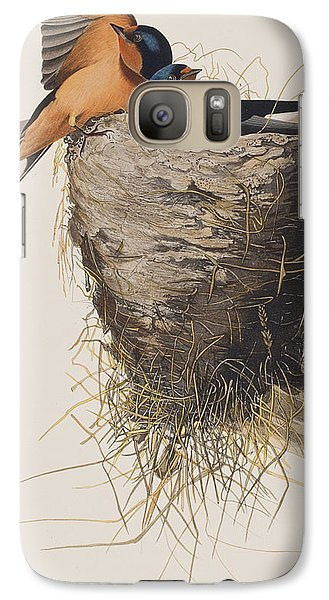 Barn Swallow Galaxy S7 Case by John James Audubon