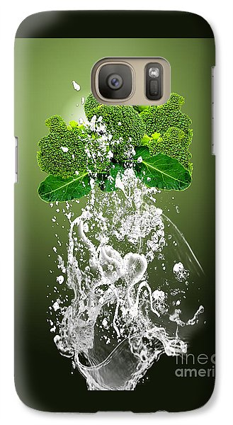 Broccoli Splash Galaxy Case by Marvin Blaine